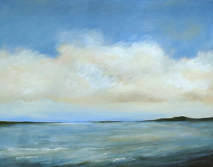 "Down the Bay 28"" x 22"" (sold)"
