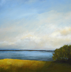 "Front Field: Union River Bay 30"" x 30""  (sold)"
