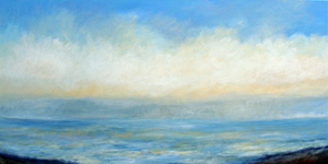 "Wait and See  48"" x 24"" acrylic on canvas"