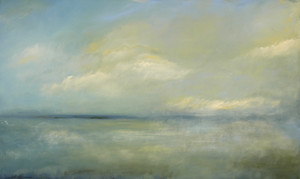 "Rolling Sea and Sky 60"" x36"" (sold)"